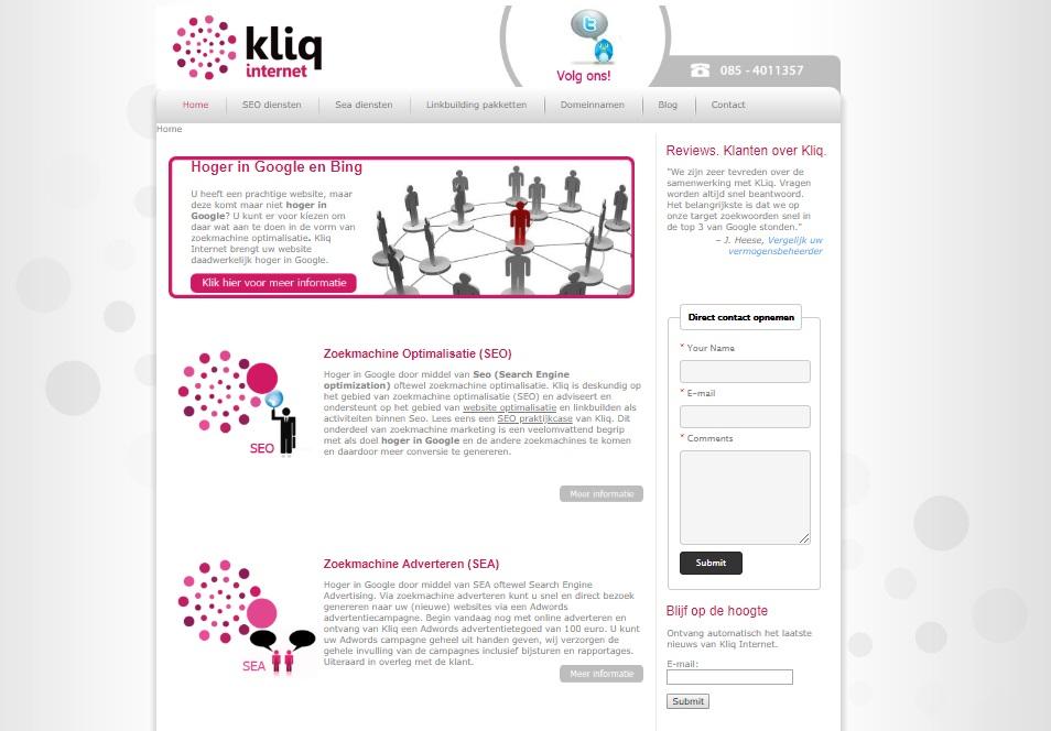Kliq Internet in 2012